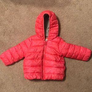 Baby Gap Hooded Pink Puffer Coat